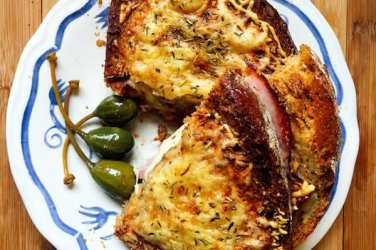 croque monsieur above recipe
