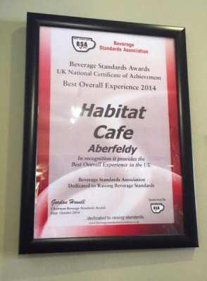 habitat cafe aberfeldy awards