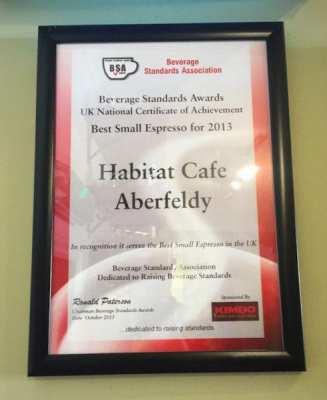 habitat cafe aberfeldy awards 2