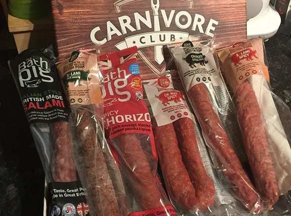 Carnivore Club - items in our box