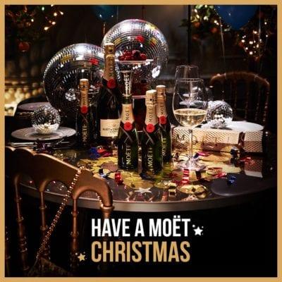 Moët champagne Corinthian glasgow Christmas