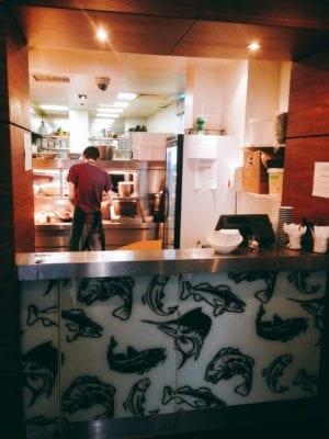 Walking food tour: Fish to go takeaway at Gandolfi Fish