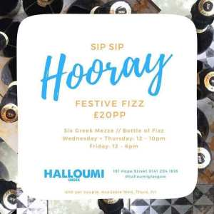 Halloumi Greek Glasgow Christmas prize