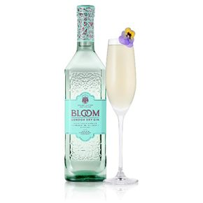 Bloom gin fizz French 75 cocktail