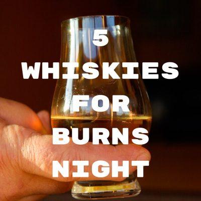 5 whiskies for Burns Night