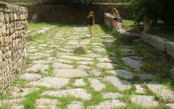 Roman road Serdica Sofia