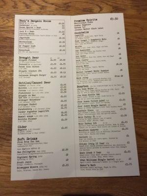 Bucks bar glasgow food blog
