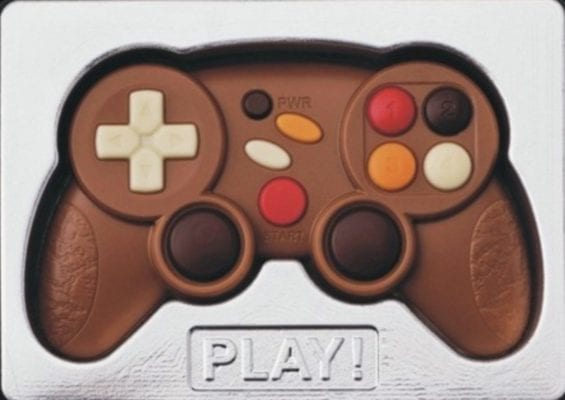 Valentine's men chocolate game controller