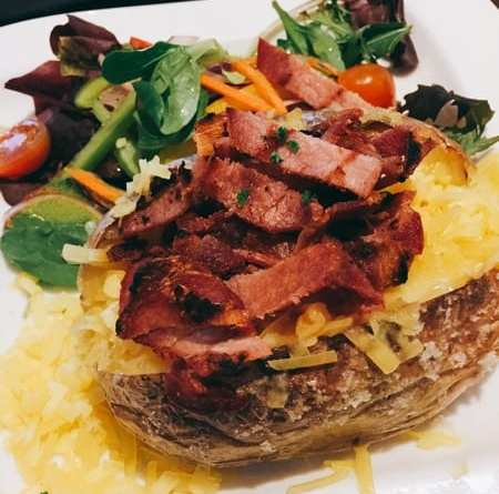 Victoria's Pitlochry cafe Baked potato