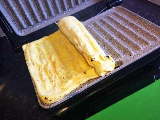 Panini grill press maker omelette recipe