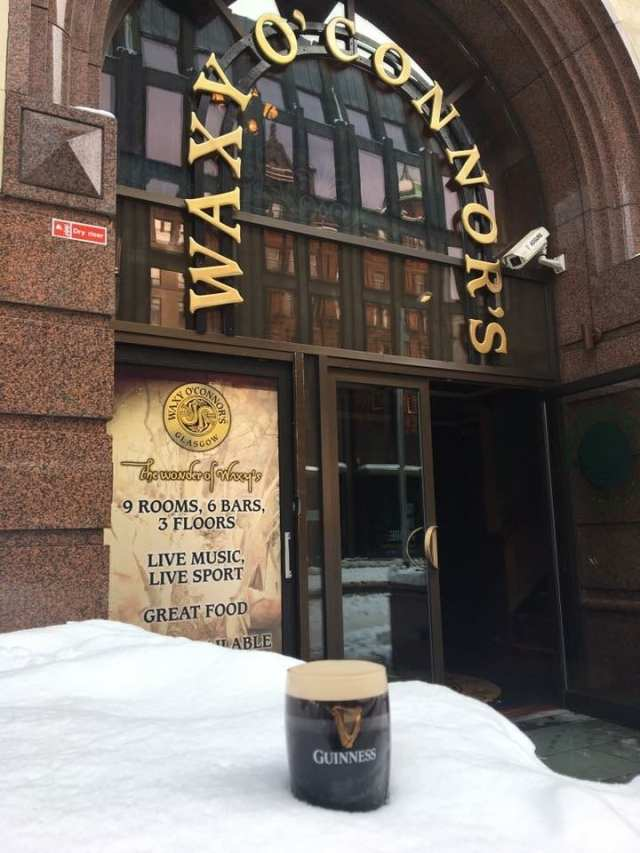 Waxy O'Connor's Guinness exterior st patricks day glasgow