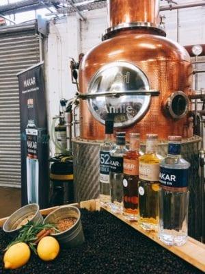 Makar gin Annie Still loch Fyne salmon