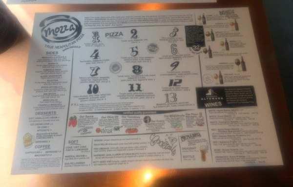 Mozza pizza glasgow menu