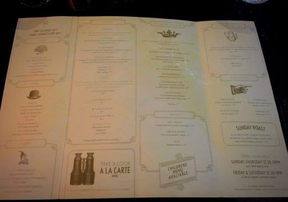 wild cabaret glasgow food blog menu