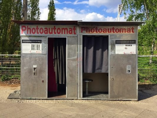 Glasgow food travel blog Berlin photoautomat