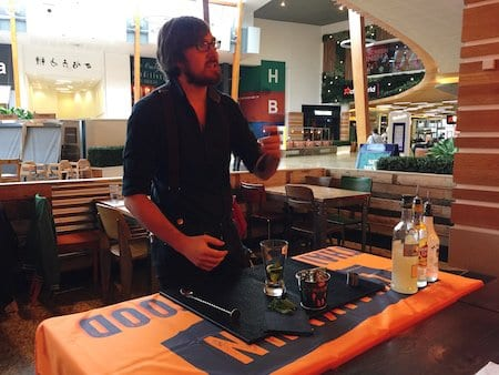 Thaikhun SIlverburn Cookery Class Cocktail Barman