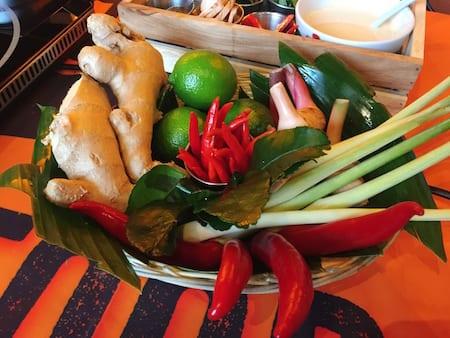 Thaikhun SIlverburn Cookery Class fresh ingredients