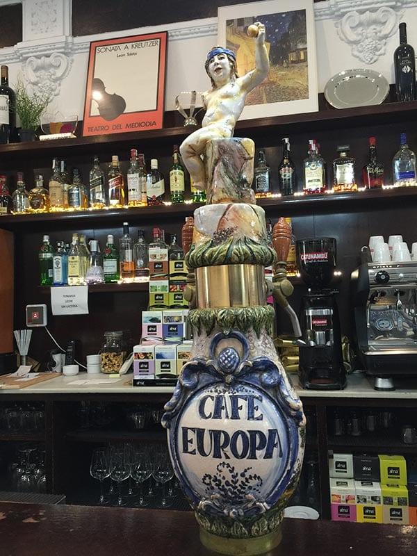 Bar Europa beer font, Seville