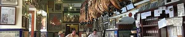 Las Teresas hanging jamon, Seville