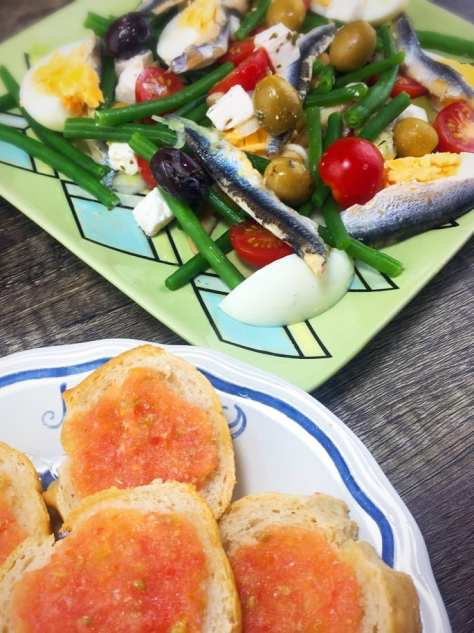 Tomato bread recipe Catalan Spain