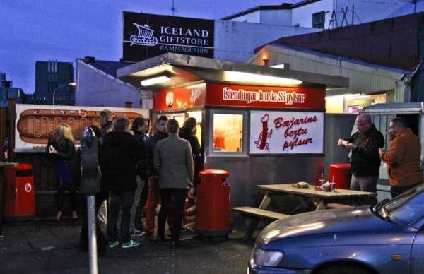 Iceland hot dog stand