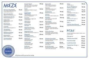 Yiamas Greek Glasgow menu city centre food