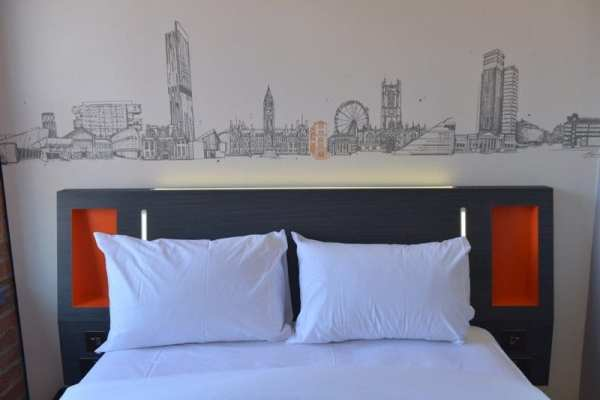 easyHotel USB bedside phone chargers