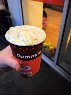 pumpkin cafe Edinburgh Christmas latte