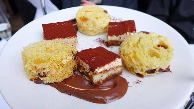 Divino Enoteca Italian afternoon tea - panettone and tiramisu