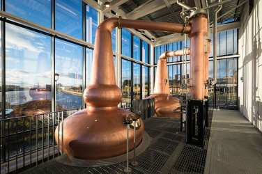 Clydeside Distillery - copper stills
