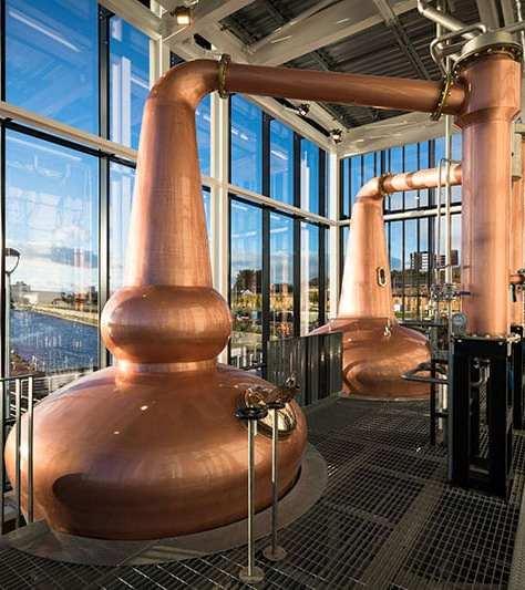 Clydeside Distillery - copper stills