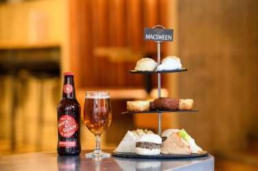 Macsween Innis and Gunn burns night Haggis Afternoon Tea