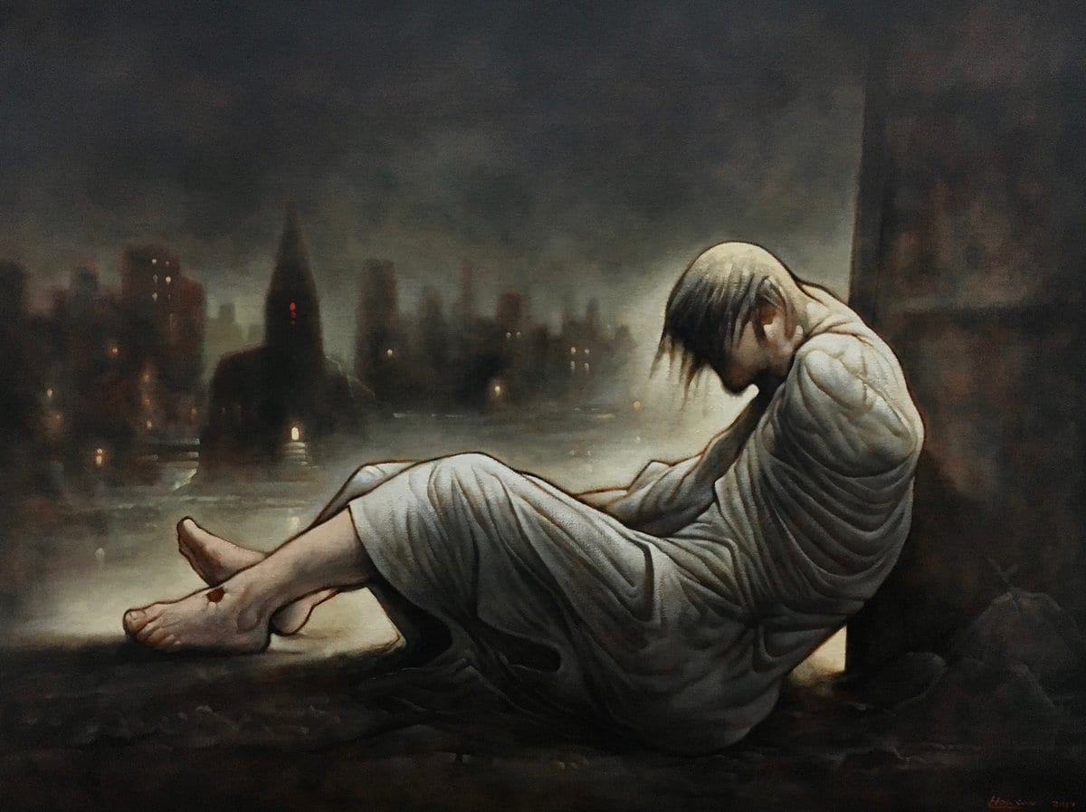 Homeless Jesus Peter Howson eusebi glasgow
