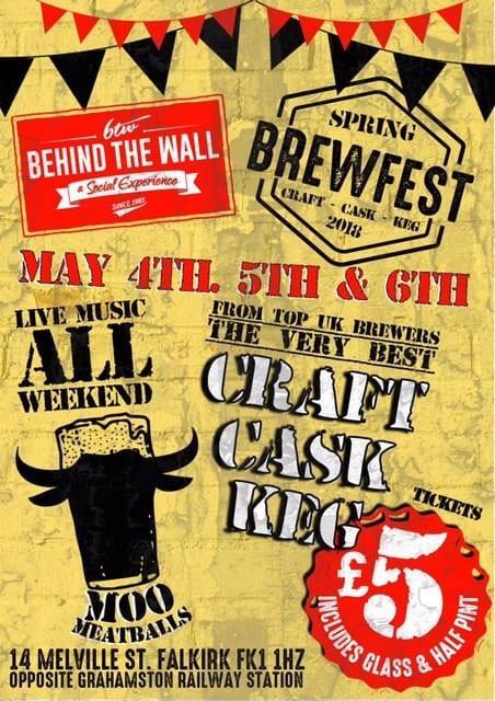 Foodie Explorers Glasgow food blog drink behind the wall Falkirk beer festival