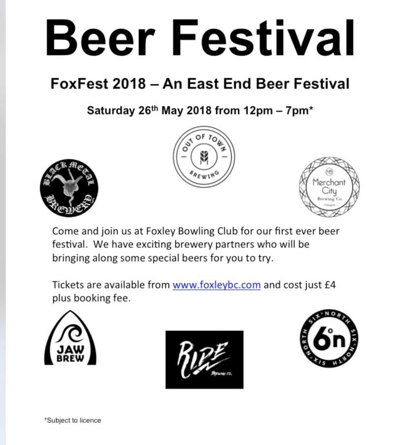 FoxFest glasgow beer festival East End