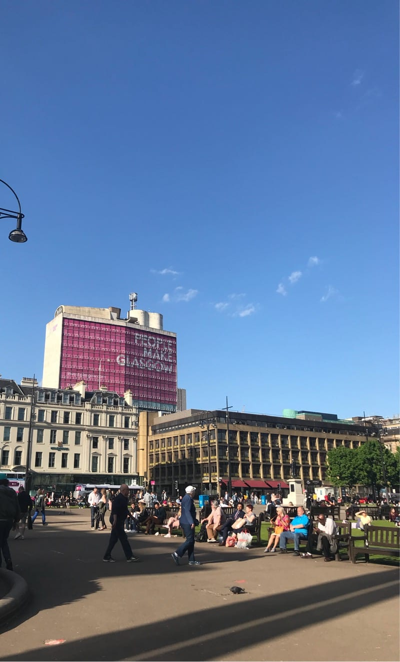 Glasgow in the sun
