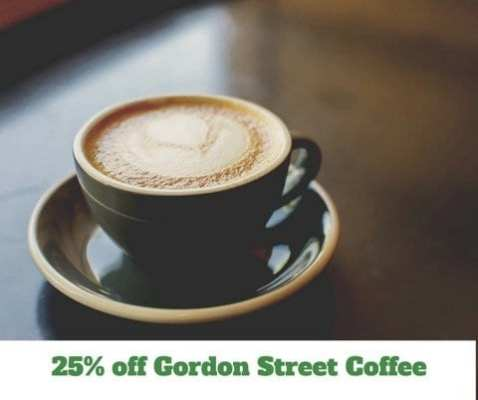 25% off Gordon Street Coffee
