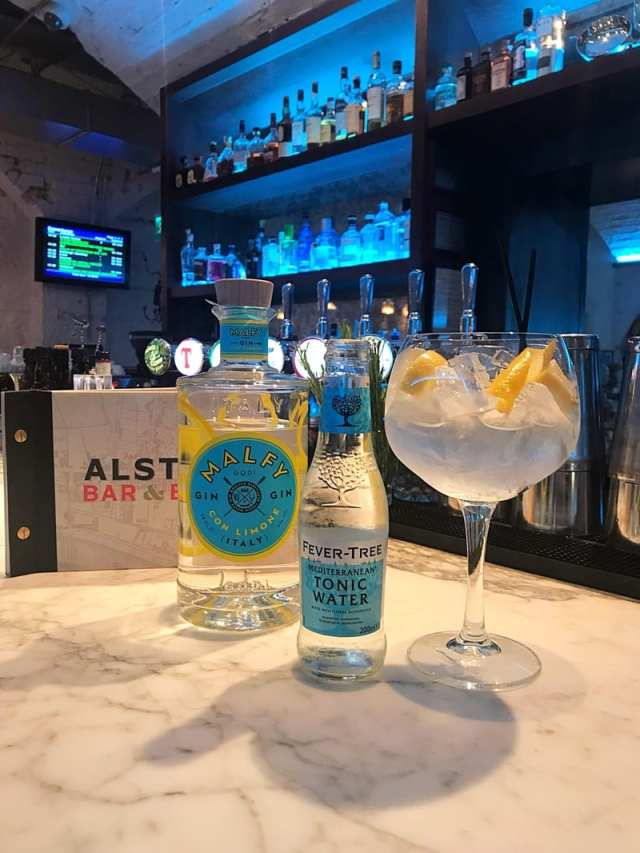Alston Bar and Beef Malfy Gin
