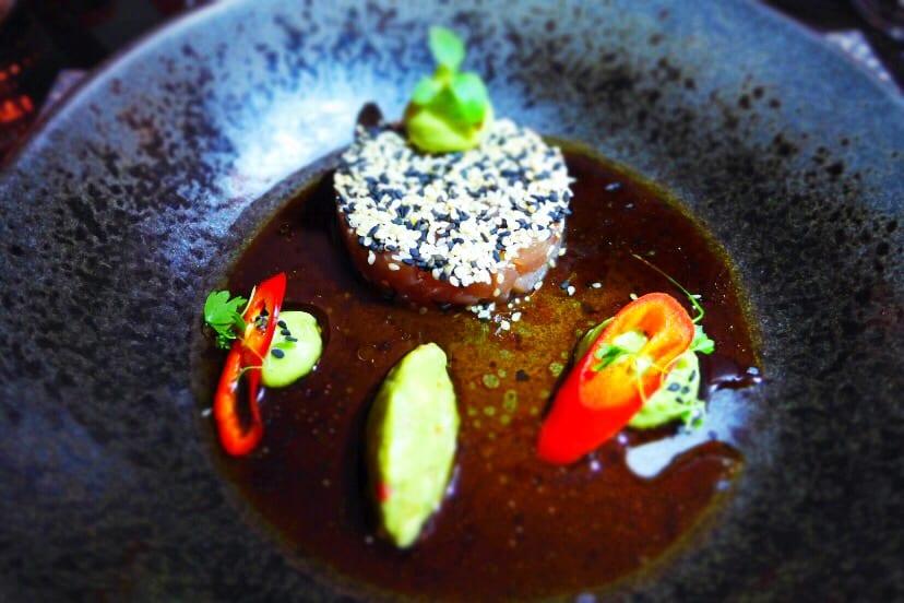 Chez Mal Malmaison glasgow Summer Menu Ahi tuna tartare