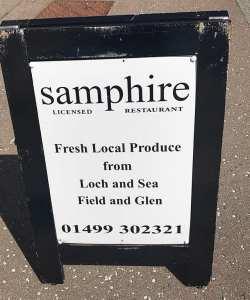 Samphire seafood restaurant Inveraray scotland