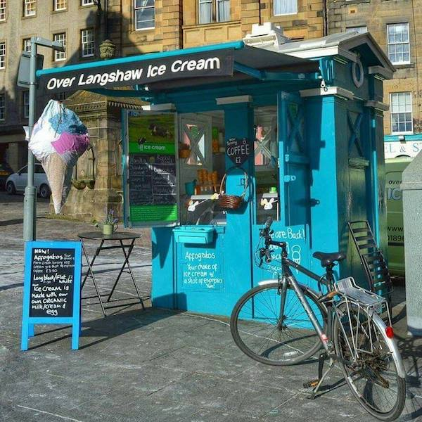 best ice cream shops in Edinburgh foodie explorers Over Langshaw Ice Cream Cool As