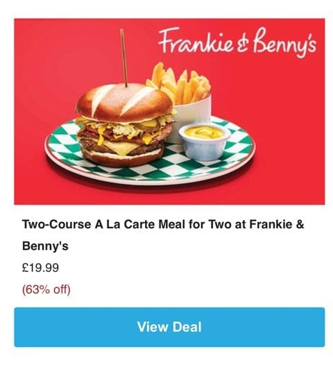 Groupon Frankie and benny