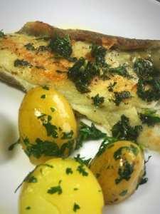 quick plaice with lemon parsley butter recipe