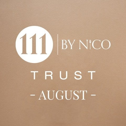 Next menu for TRUST 111 by Nico released with blindfolded tasting