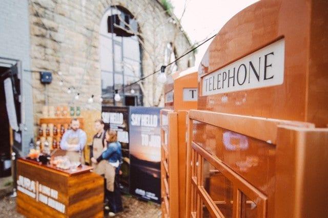 Jura whisky platform at the arches Glasgow