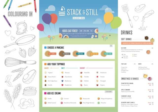 Stack and still Glasgow pancakes menu