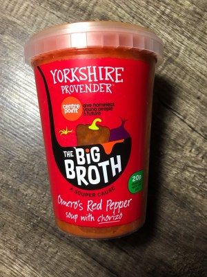 Centrepoint Yorkshire provender the big Broth soup