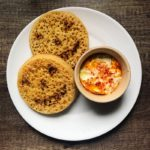 Halloween baked brains and crumpets baked eggs recipe