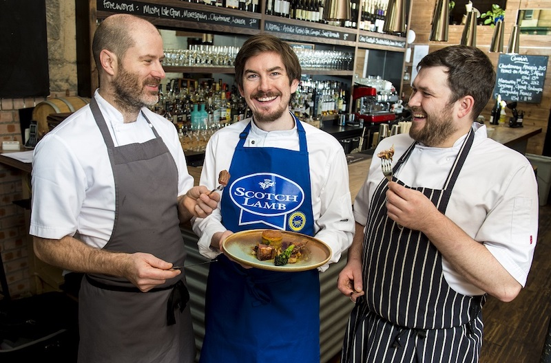 (L-R) The Gannet co-owners Ivan Stein and Peter McKenna with Chris Thomas (head chef)