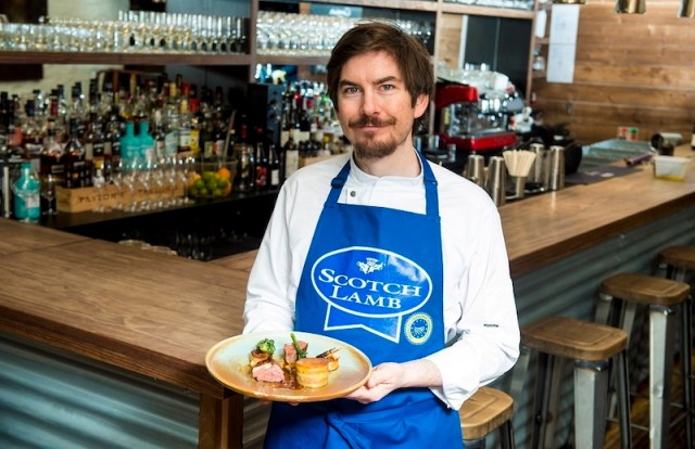 Peter McKenna, head chef and co-owner of the Gannet with the Scotch Lamb dish